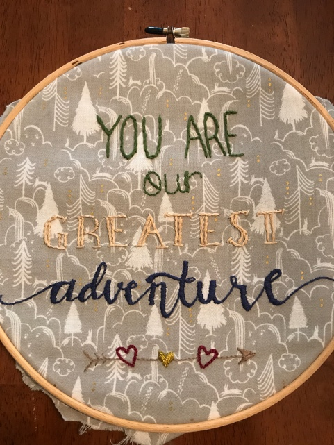 You are our greatest adventure (baby gift)